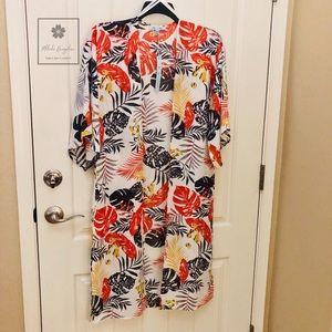 She + Sky - Tropical Kimono Cover Up